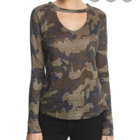 Generation Love camouflage print top Large